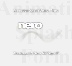 Animation Splash Form Demo :: ASFDemoNero